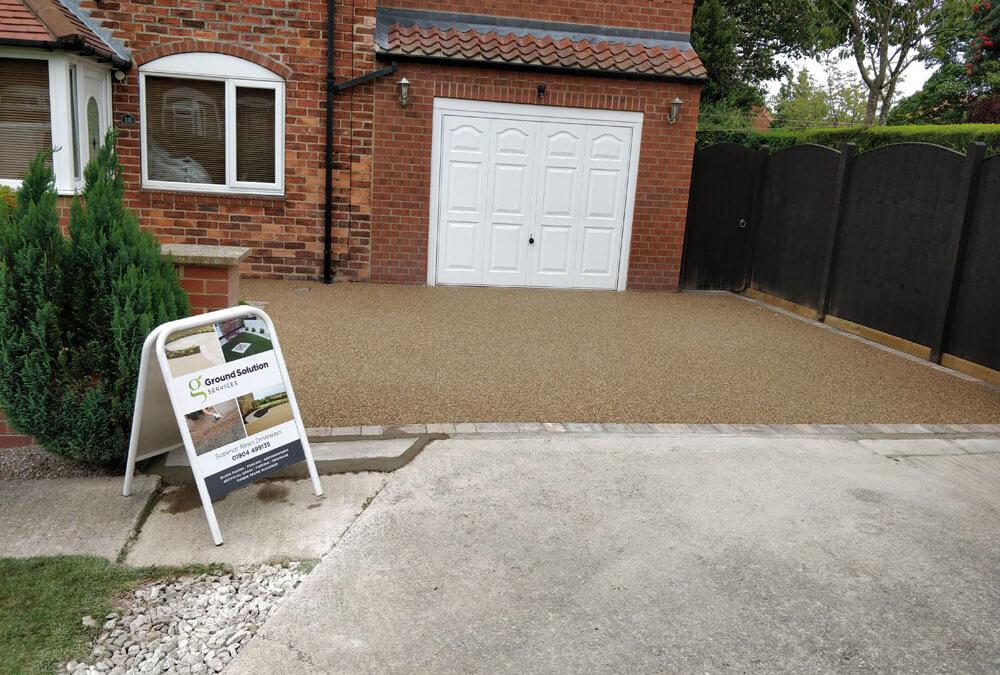 Green Hammerton double driveway, York
